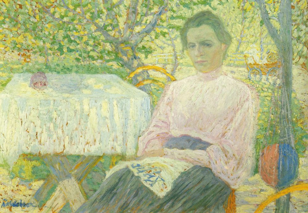 Kazimir Malevich. A woman reading (portrait of a member of the family of the artist)