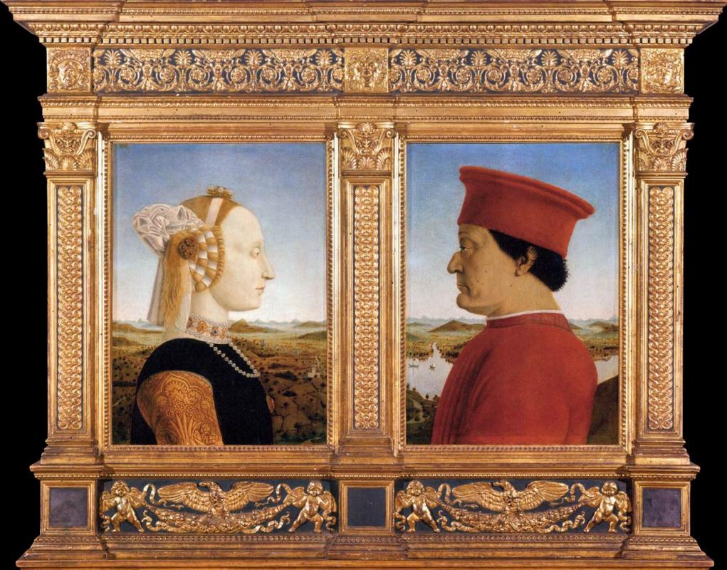 Portrait of federigo da Montefeltro and Battista Sforza