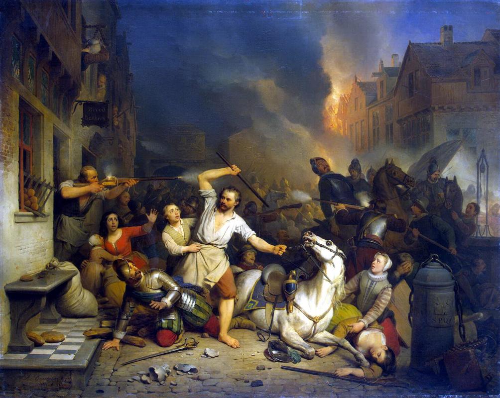 Фердинанд де Бракелер. Неистовство французов в Антверпене