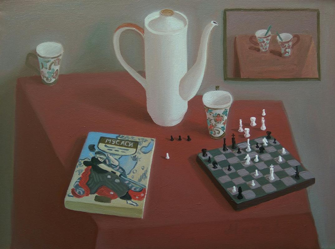 Anton Matiev. Still life with chess