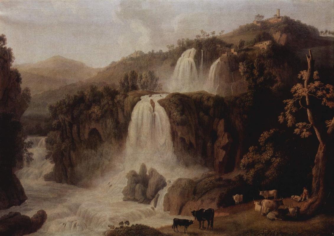 Jacob Philippe Hackert. Big waterfalls in Tivoli