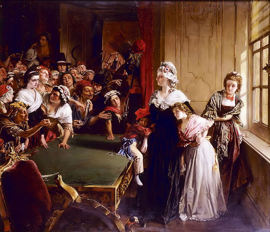 Unknown artist. The attack of the mob on the Tuileries. Marie Antoinette defends her children