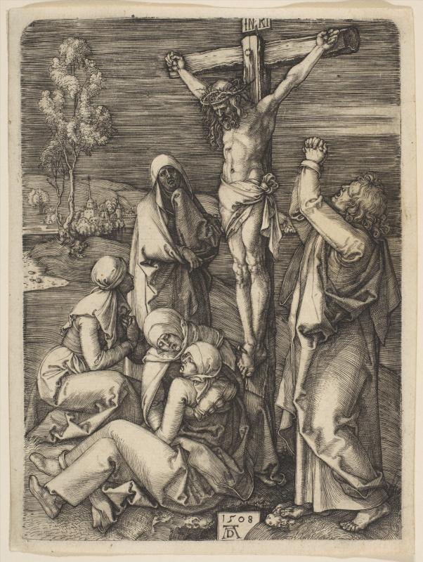 Albrecht Dürer. Christ on the cross