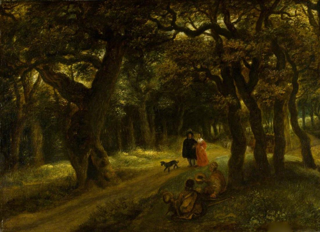 Ян Ливенс. Прогулка в лесу