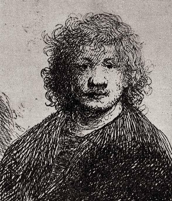 Рембрандт Ван Рейн. Автопортрет с широким носом