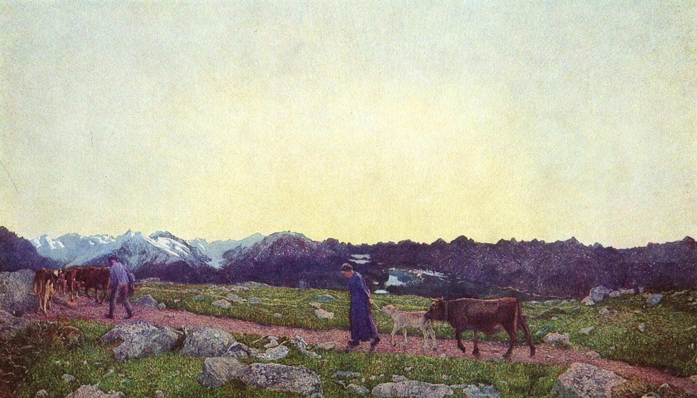 Giovanni Segantini. Alpine triptych. Life