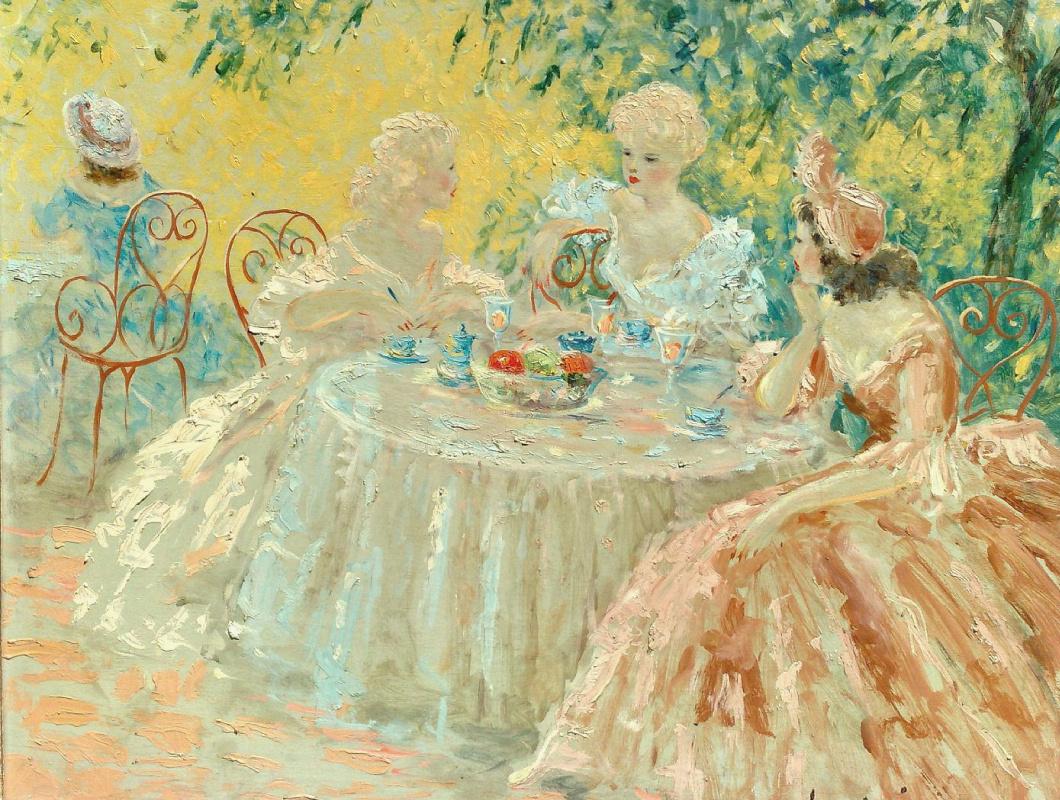 Icarus Louis France 1888 - 1950. Tea time.