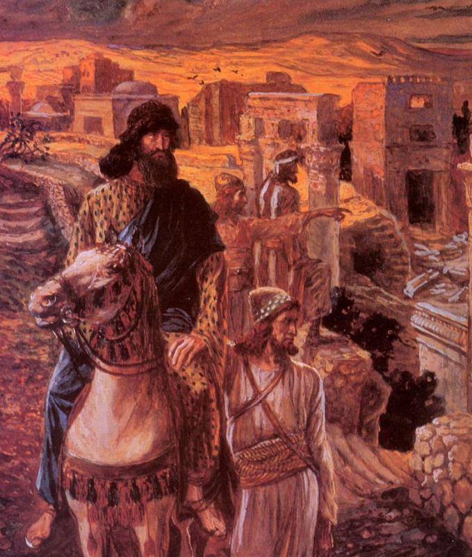 Неемия взирает на развалины Иерусалима