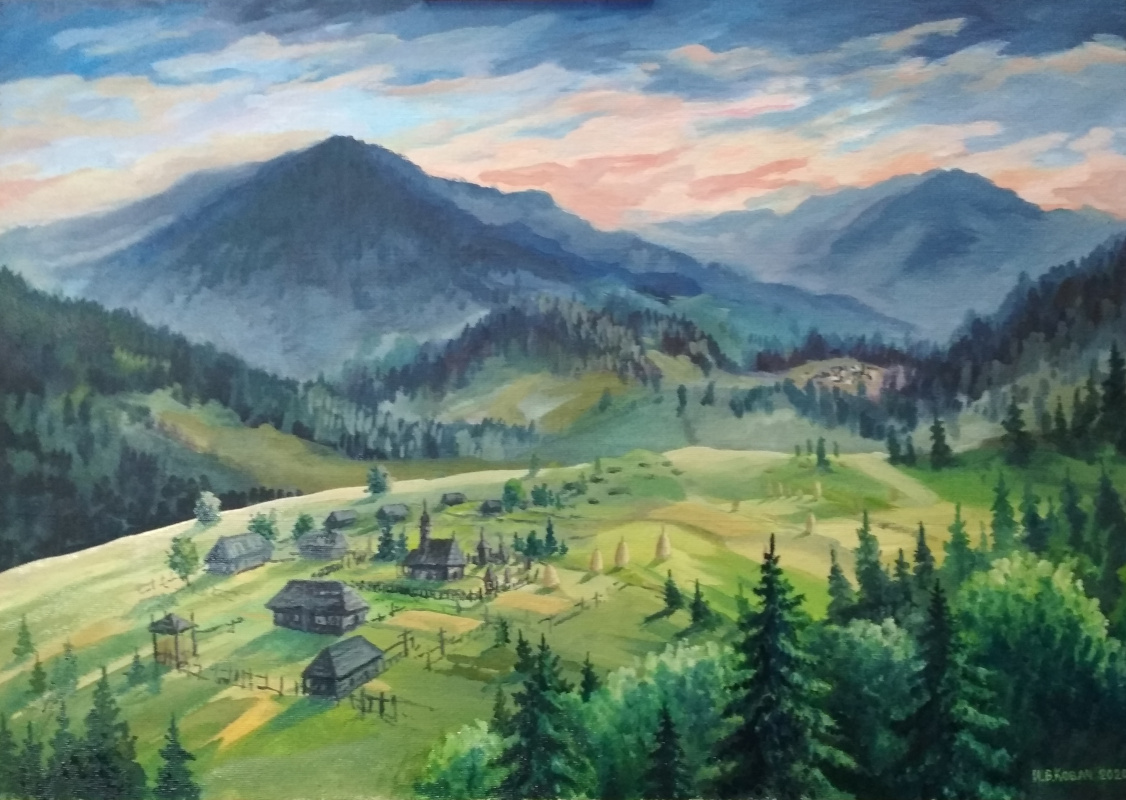 Ivan Vasilyevich Kovacs. In the Carpathians