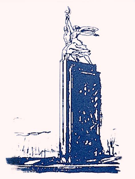 Эскиз установки монумента «Рабочий и Колхозница»