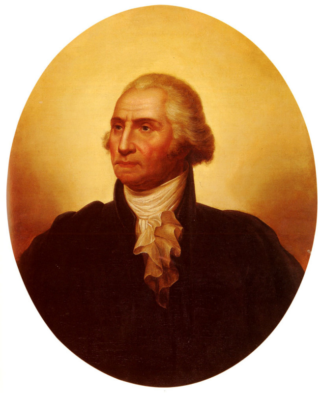 Рембрандт Пил. Портрет Джорджа Вашингтона