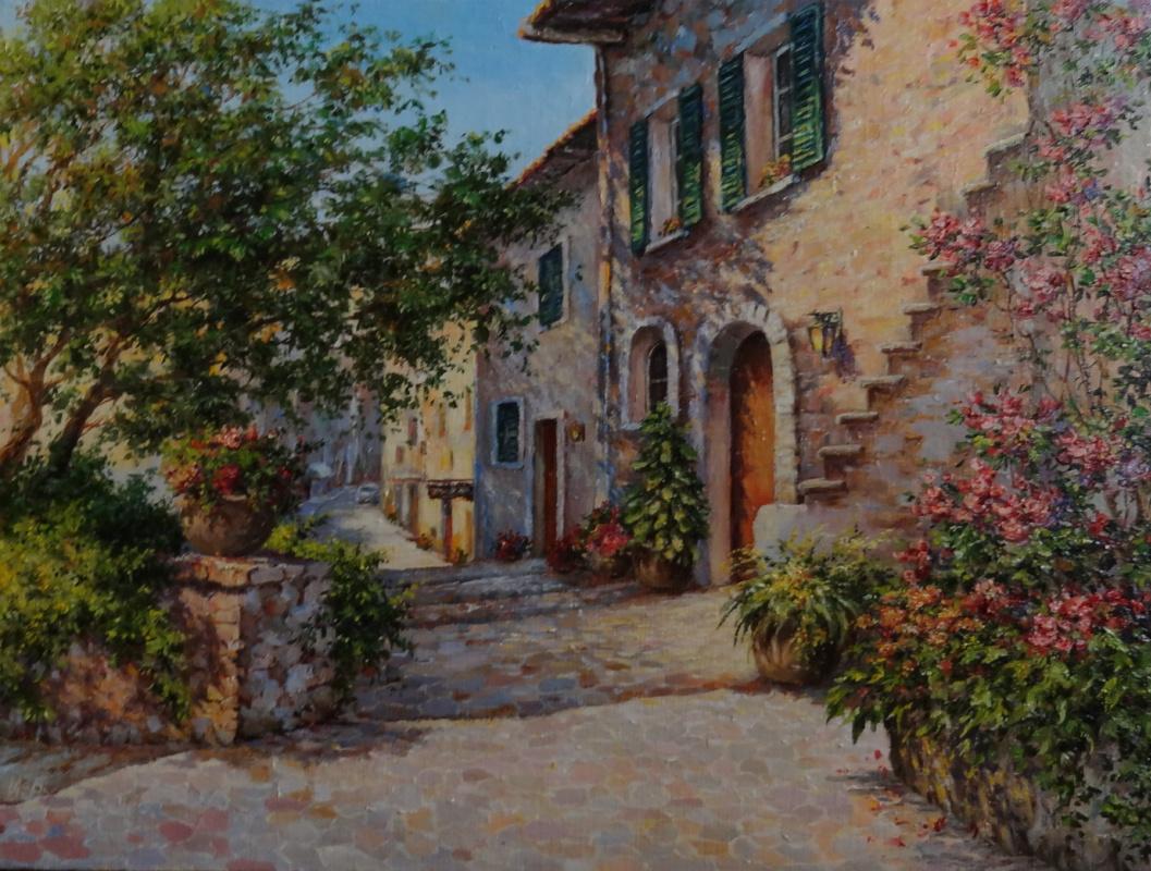 Irina Nikolaevna Borisova. Street in the italian town.
