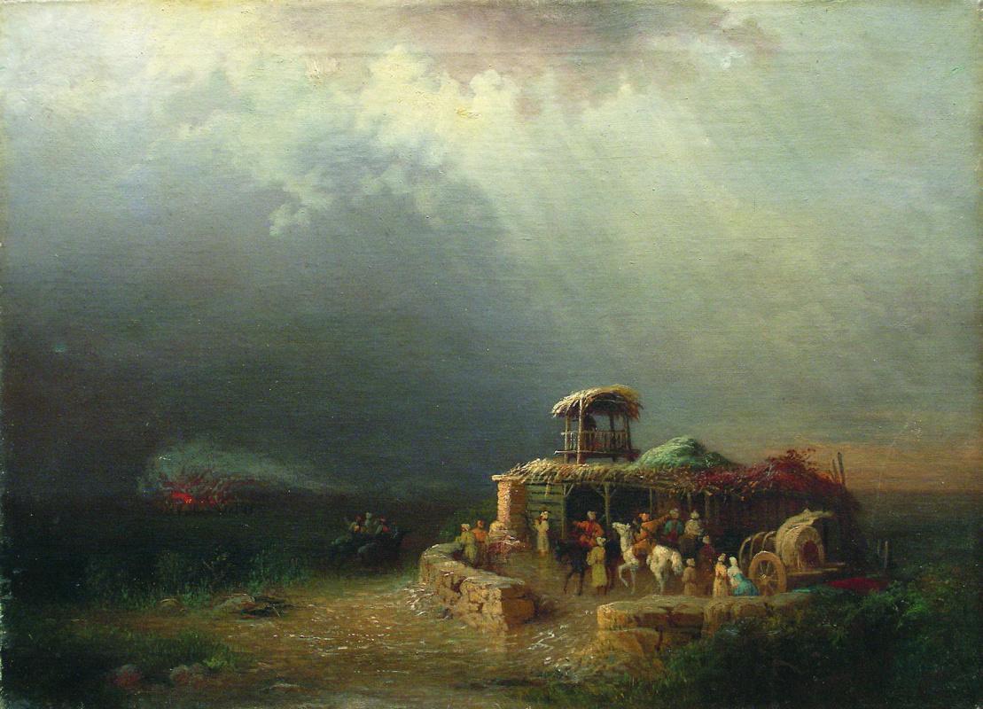 Lev Feliksovich Lagorio. The Circassian soldiers in the desert