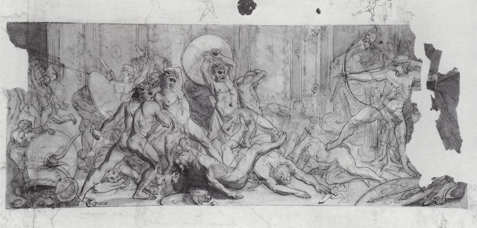 Vasily Vereshchagin. Beating the suitors of Penelope returning Ulysses