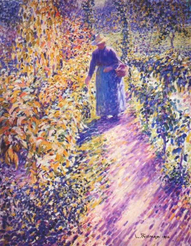 Луис Ритман. Женщина в саду