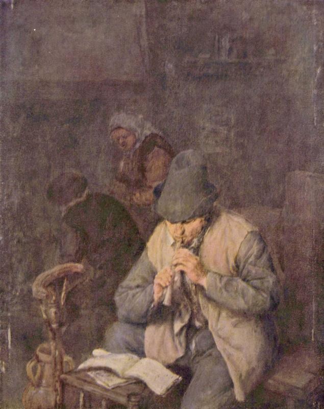 Адриан ван Остаде. Флейтист