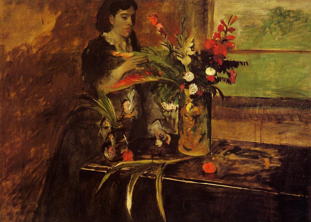 Edgar Degas. Portrait of Madame rené de Ha nee Estelle Musson