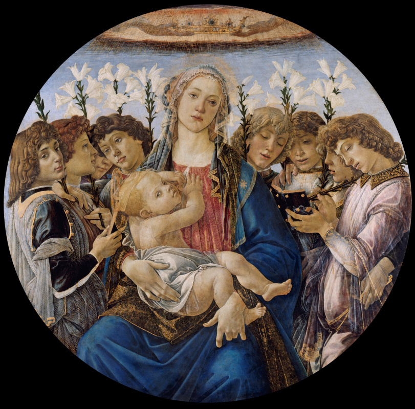 Sandro Botticelli. Madonna with singing angels,