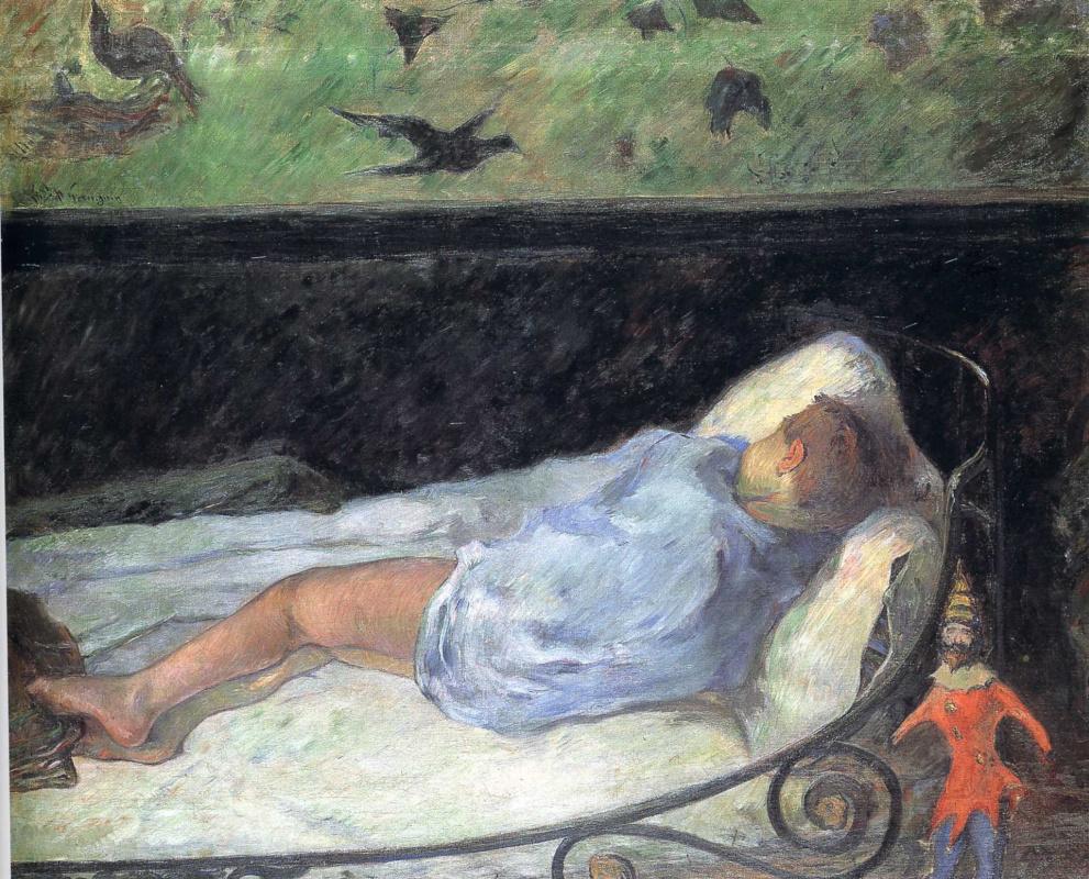 Paul Gauguin. Sleeping baby. Etude