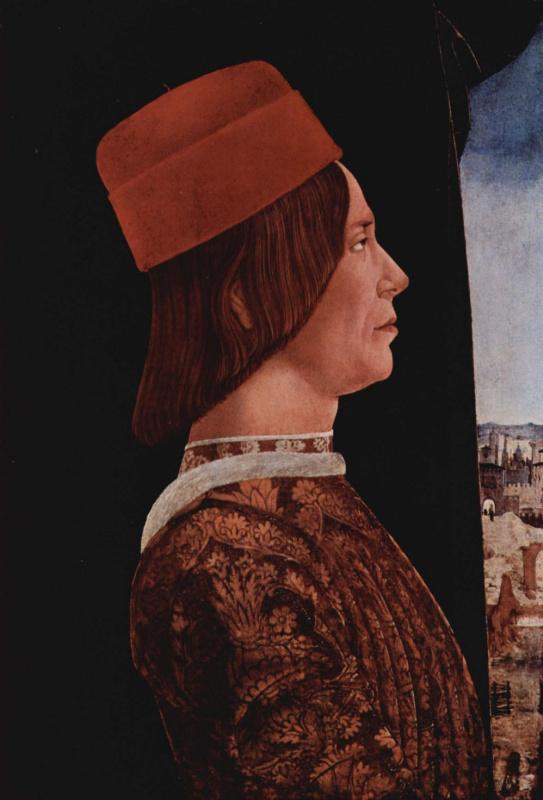 Портрет Джованни II Бентивольо. Диптих Бентивольо, фрагмент