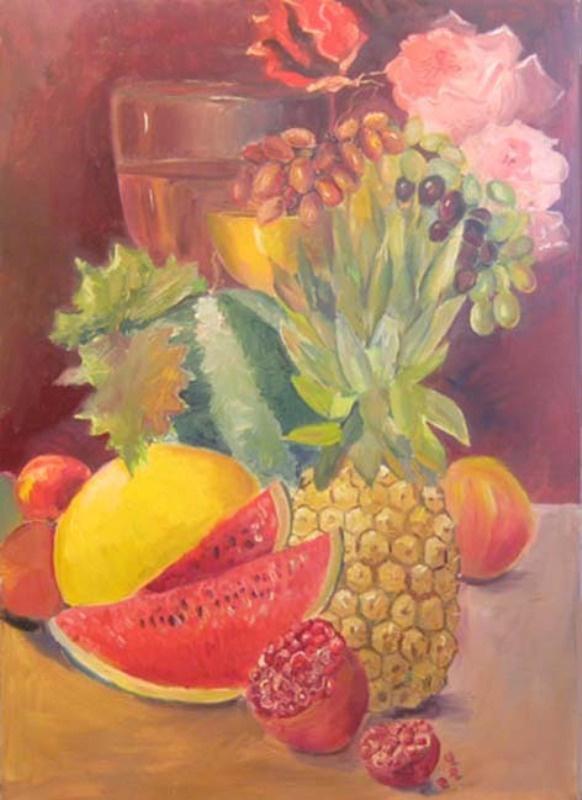 Павел Маркович Ошеров. Натюрморт с ананасом