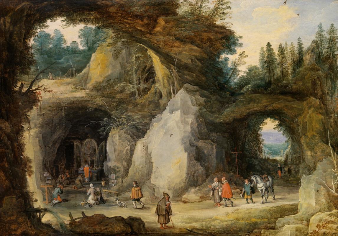 Jan Bruegel The Elder. Hermit before the grotto. (joint with Jos de Momper)