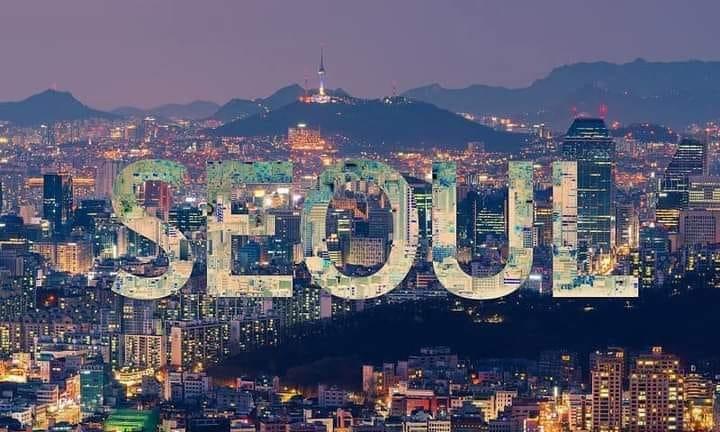 Vain Goder. Seoul City Under the Dreamy Purple Sky