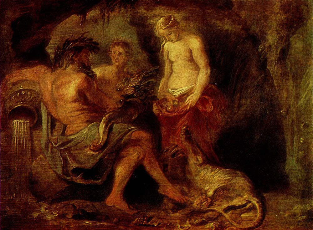 Peter Paul Rubens. The God of the Scheldt river, Cybele, and the goddess of the city of Antwerp
