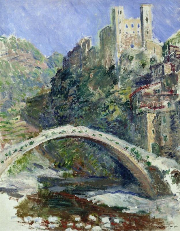 Claude Monet. The castle at Dolceacqua