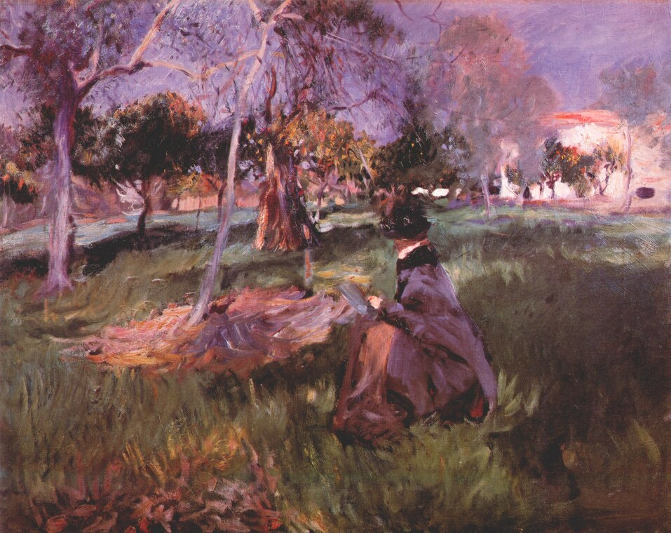 John Singer Sargent. In the orchard