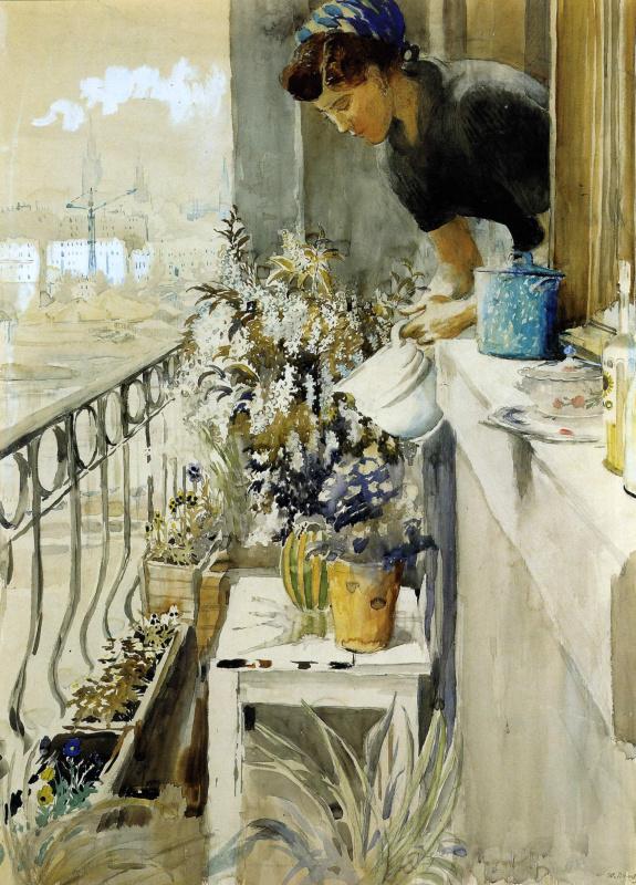 Юрий Иванович Пименов. Балкон