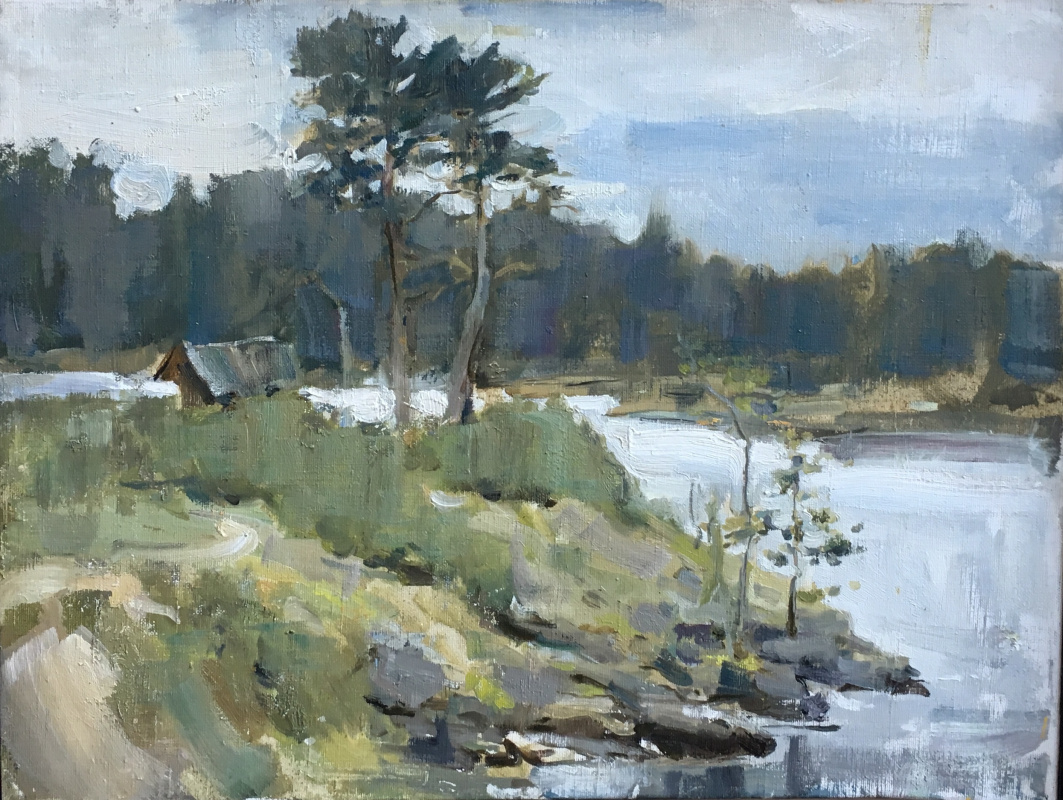 Irina Zelenina. Landscape on Valaam
