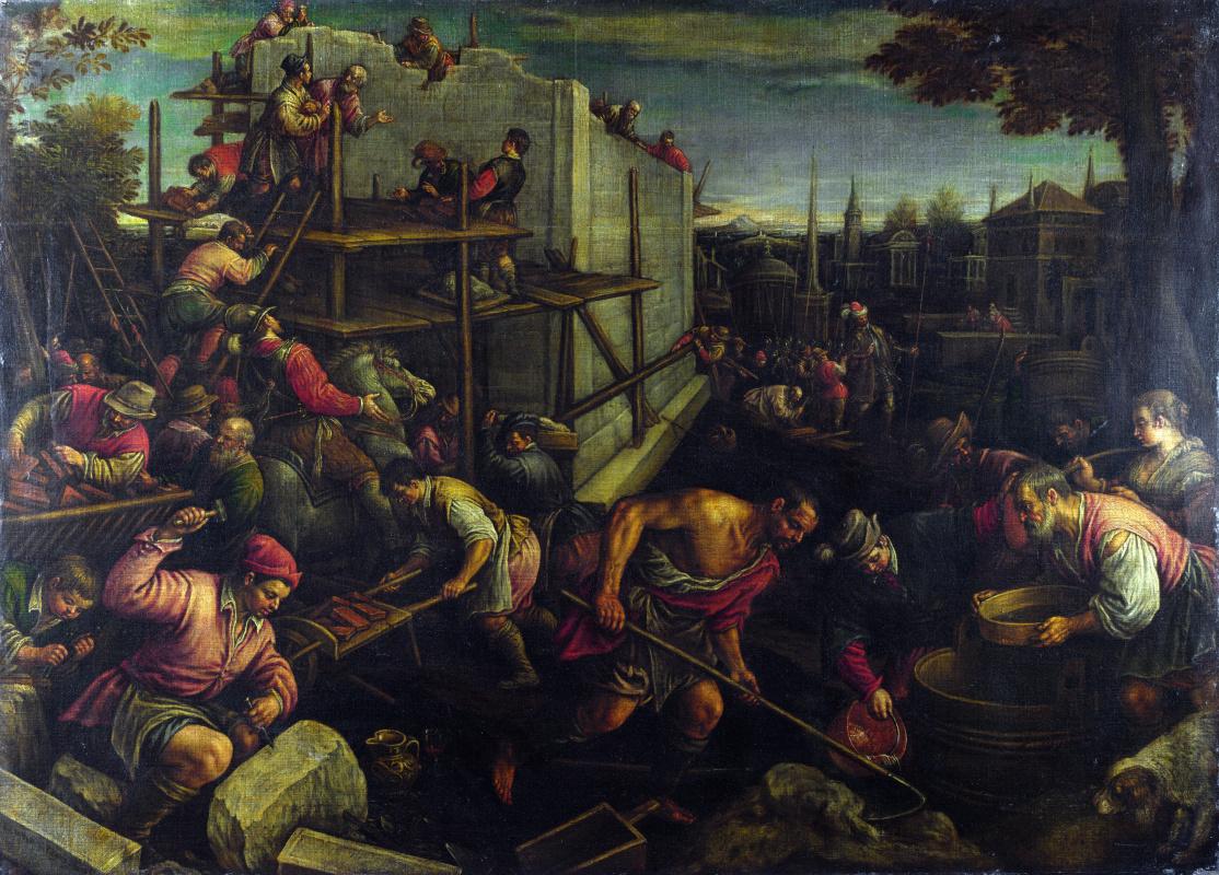 Леандро Бассано. Вавилонская башня