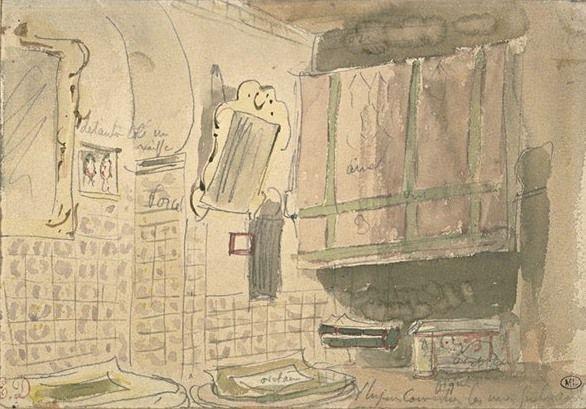 Eugene Delacroix. The interior is in Algeria