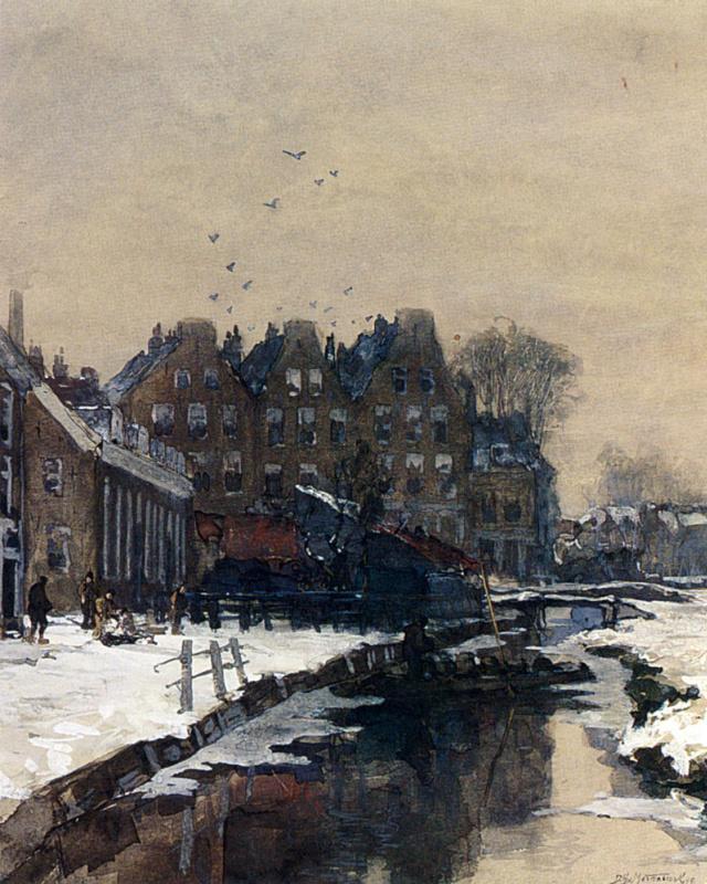 Канал зимой