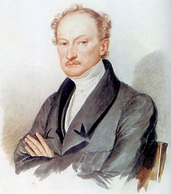 Александр Павлович Брюллов. Портрет неизвестного