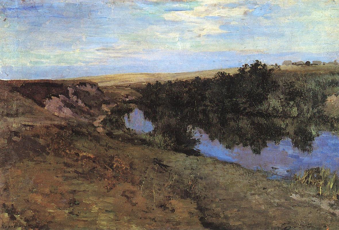 Константин Алексеевич Коровин. Речка в Меньшове
