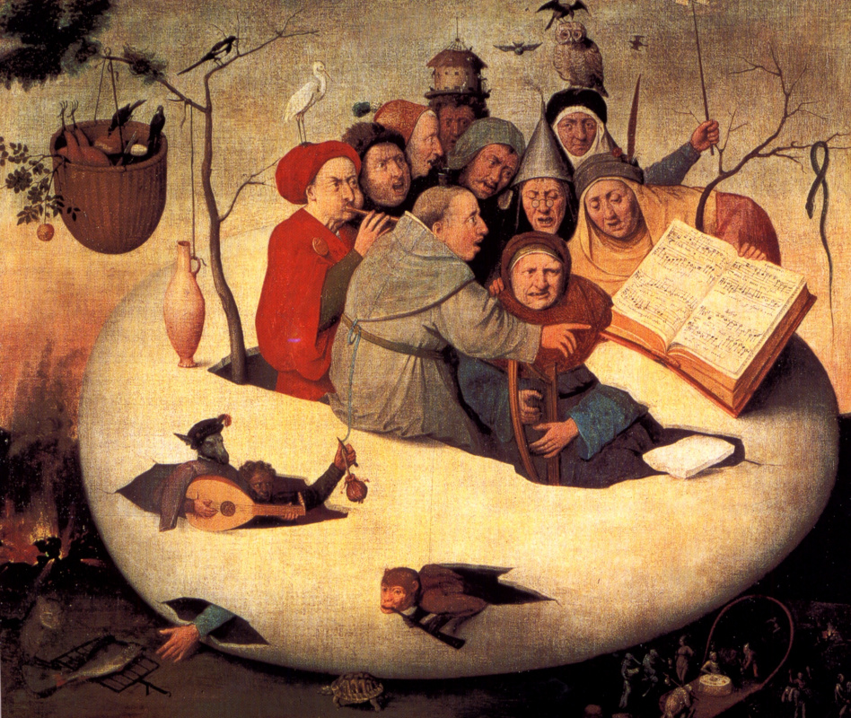 Hieronymus Bosch. Concert in the egg