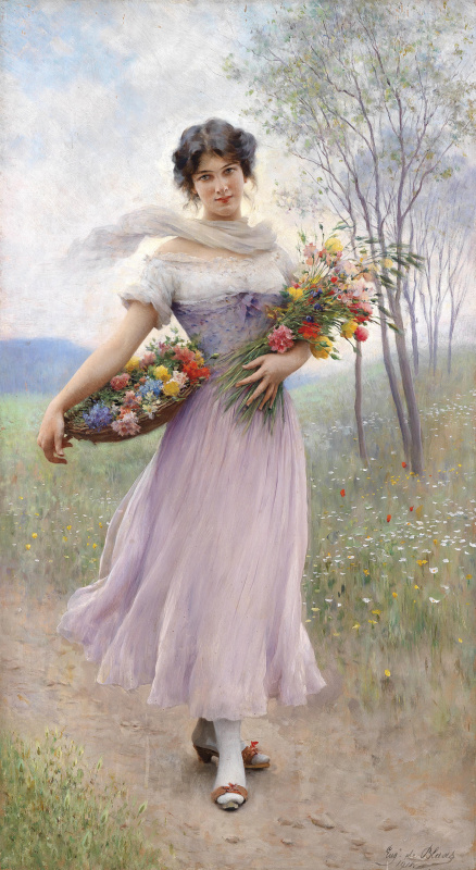Eugene de Blaas. Bouquet of flowers