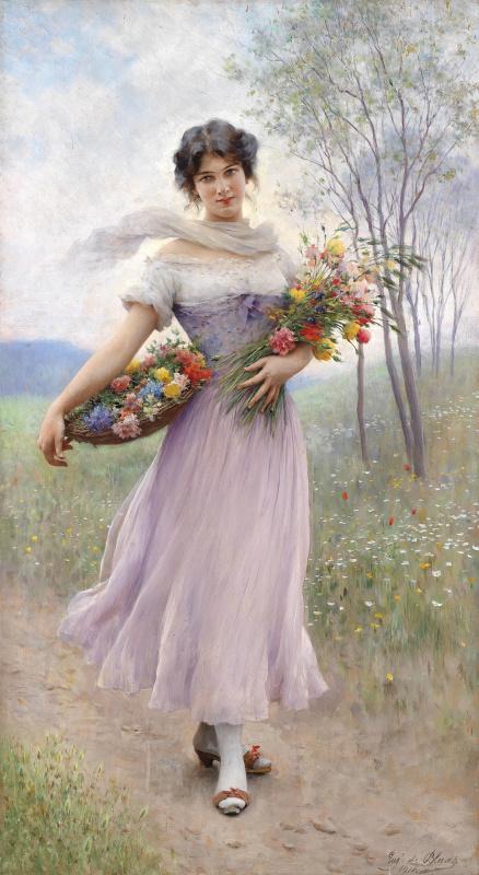 Эжен де Блаас. Букет цветов