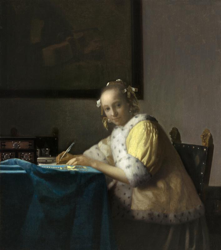 Ян Вермеер. Дама, пишущая письмо
