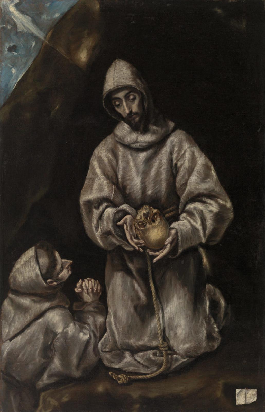 Эль Греко (Доменико Теотокопули). Святой Франциск и брат Лео размышляют о смерти