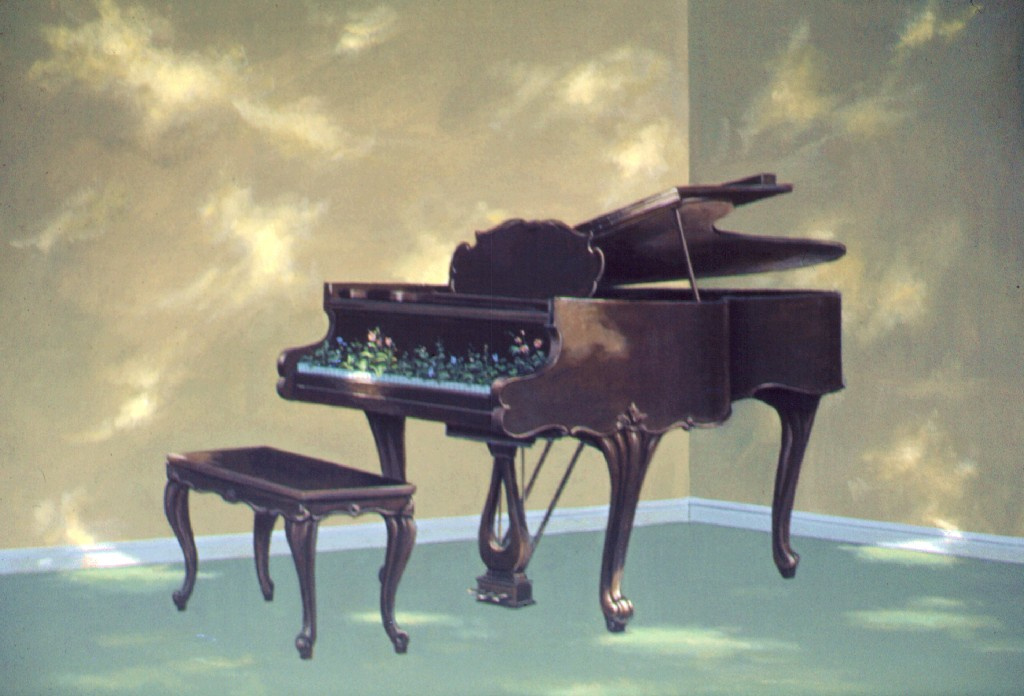 Evelyn Taylor. The bushes in the piano