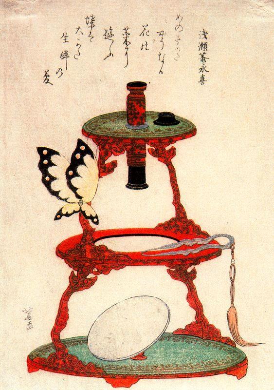 Кацусика Хокусай. Бабочка