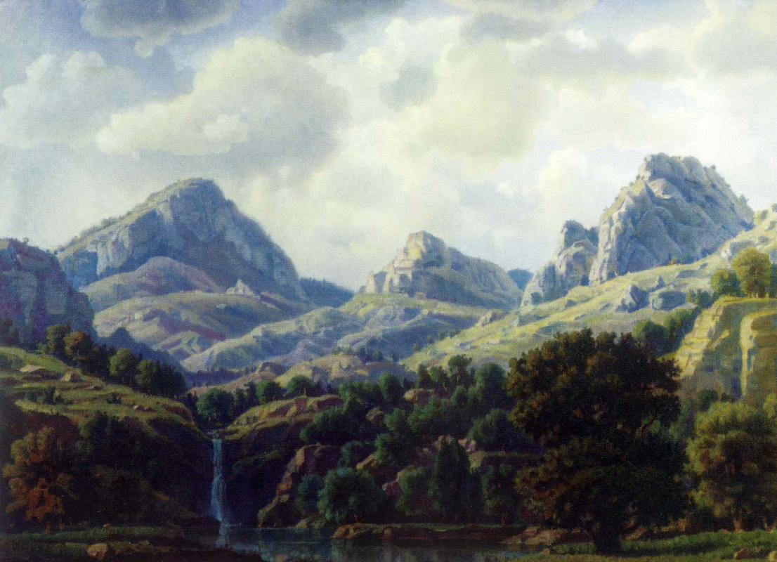 Konstantin Fedorovich Bogaevsky. Mountain landscape