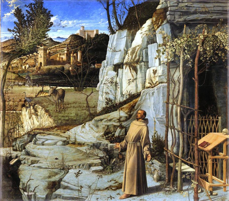Джованни Беллини. Святой Франсиск в пустыне (экстаз святого Франсиска)