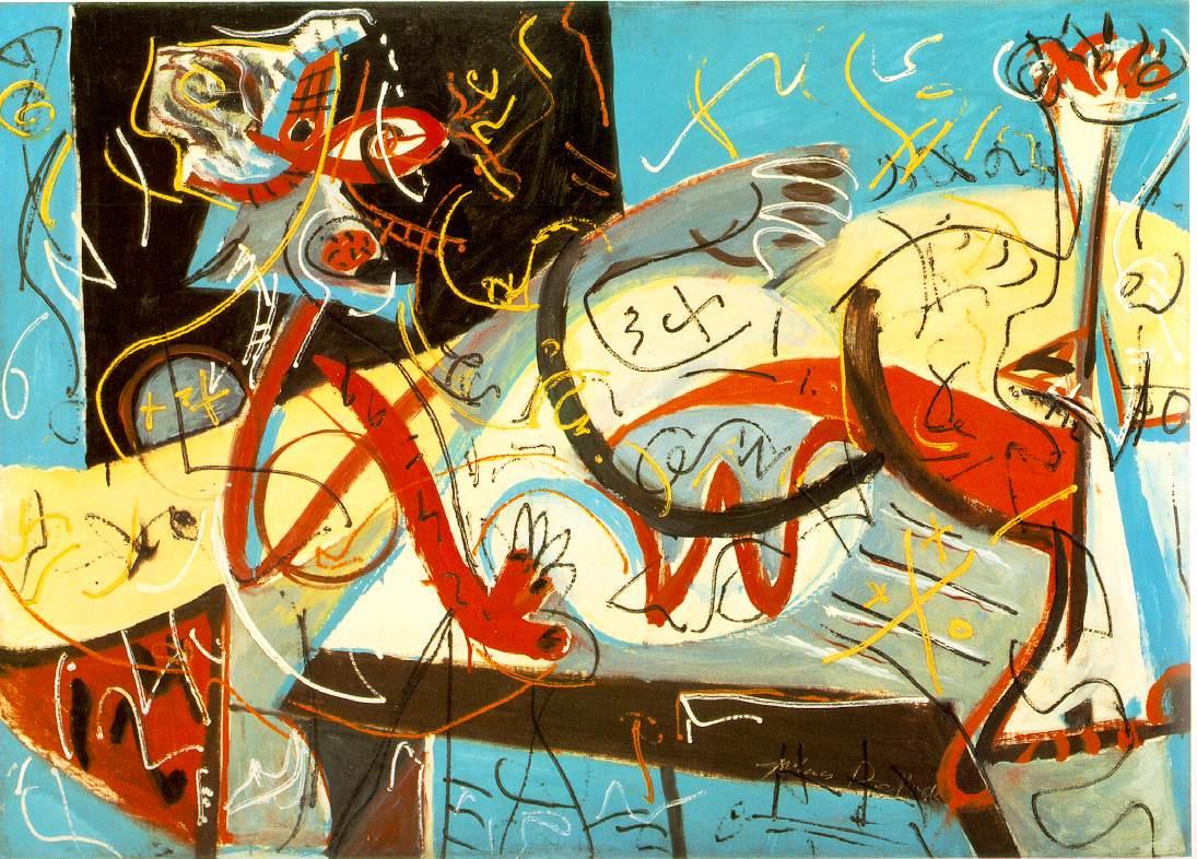 Jackson Pollock. Stenographic figure