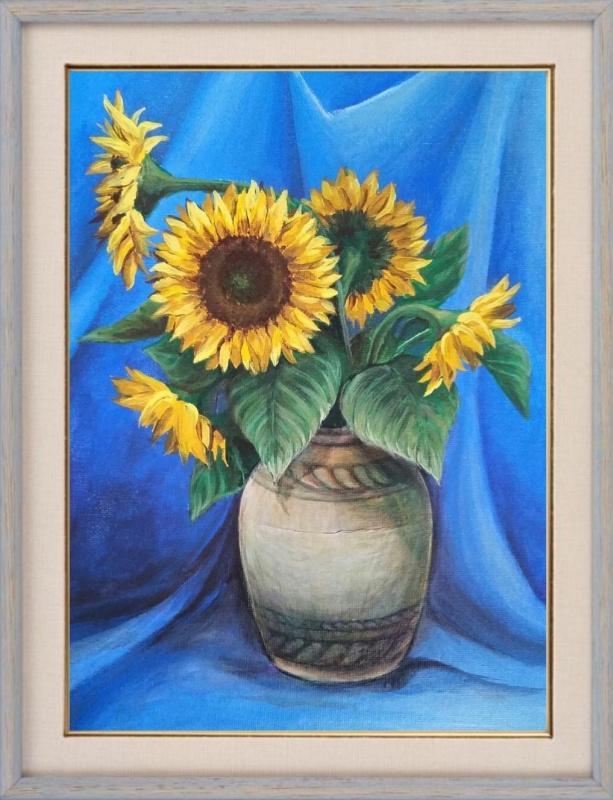 Elena Lobanova. Sunflowers