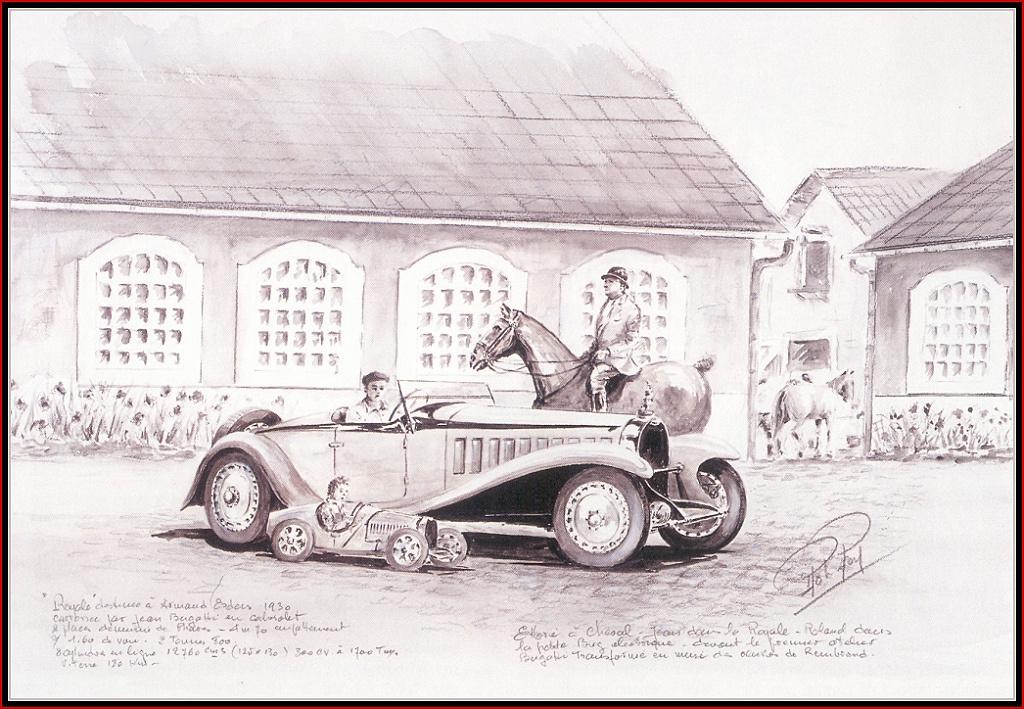 Рой Роб. Всадник на коне и машина