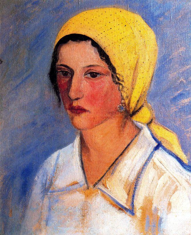 Вирхилио Бланко. Женщина в желтом платке (фрагмент)
